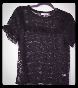 Black lace see through top!😍😍